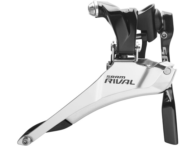 SRAM Rival 22 Yaw Front Derailleur braze-on with chain catcher silver/black